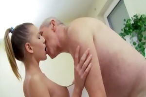 a shower with older man