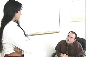 see this sweetheart teasing her teacher to sex
