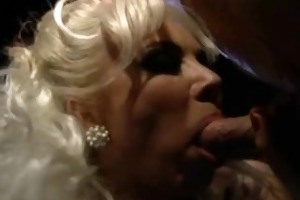 breathtaking sexy golden-haired takes cumshots