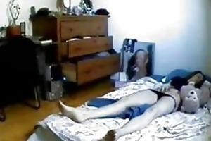 hidden web camera in bedroom of my sister caught