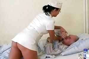 grandad chick fucking the nurse