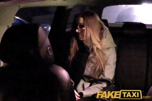 faketaxi hotty with glasses copulates for rent