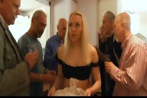 seven grandpas gang bangs teeny blond at a