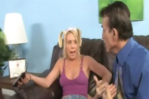 youthful daughter with wonderful wazoo drilled by