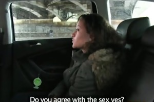 faketaxi 18 years old and engulfing taxi weenie