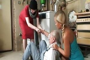 grandad wishes to smack trio nice...