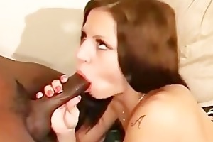 juvenile gal takes biggest schlong in her throat