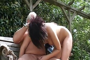 old gray senior is banging a sexy young babe