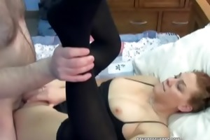 redhead coed mariah is getting drilled by an