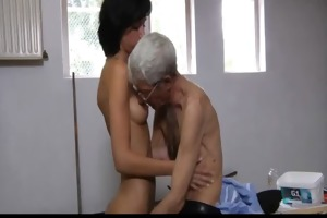 eager old fellow bonks anal lascivious brunette