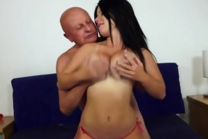 chubby big tit girl for old dude