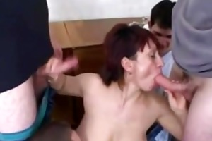 german slut takes 5 younger studs