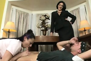 mother and daughter cocksucking contest #02