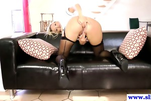 stylish british sweetheart fucked into ass by old