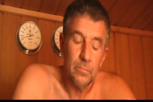 hawt oldyoung fucking in the sauna