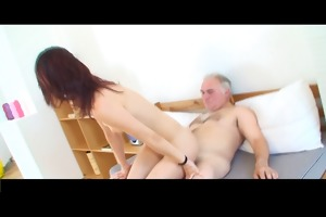 small tittted hotty acquires fucked by grandpa