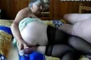 older man and grandma 75 years