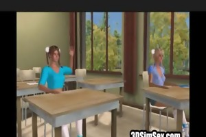 3d teacher drilled younger angel