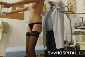 slim tall blond physical and twat exam on hidden