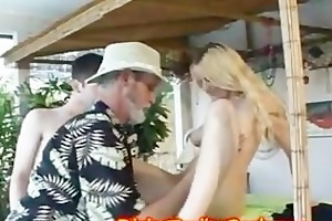 daddy and son made sex with the hot bartender
