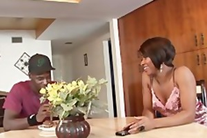 hot ebony hotty fucked by her step brother