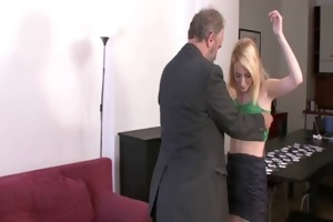 she is receives punished and fucked by geezer