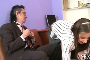 bewitching anal invasion with teacher