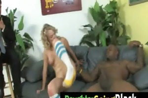 see my tiny daughter when is ride a black cock 21