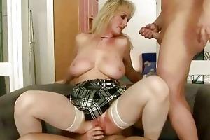 sexy grandma enjoys naughty sex wth younger chap