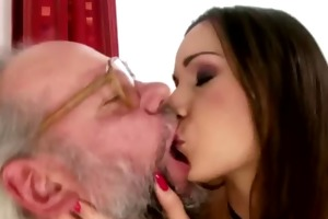 hirsute grandpapa enjoys playfull legal age